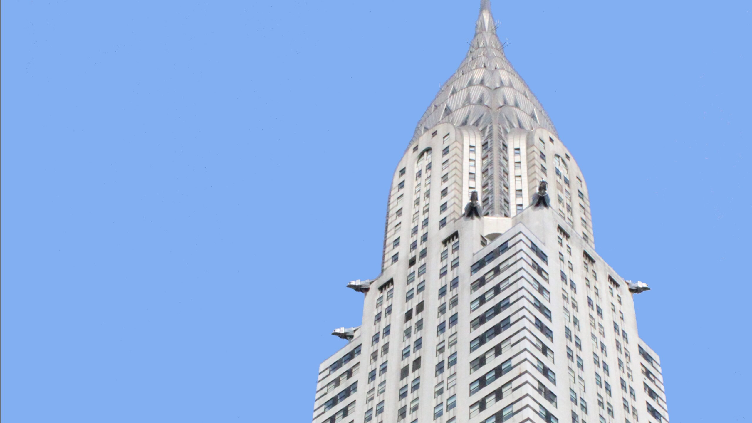 Chrysler Building against blue sky